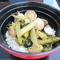 Asian Stew with Chicken Meatballs, Bitter Melon & Chinese Broccoli