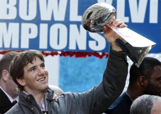 NY Giants QB Eli Manning