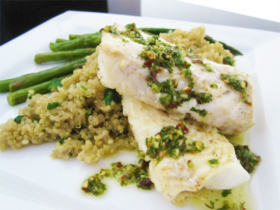 Spring recipes broiled fish and asparagus with for Fish and asparagus