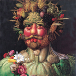 Vertumnus 1590 by Giuseppe Arcimboldo (1527-1593)